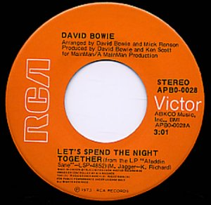 Let's Spend The Night Together 1973 Canada