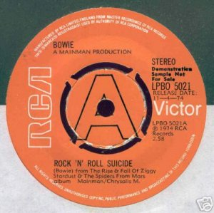 Rock 'N' Roll Suicide 1974 Royaume-Uni Promo